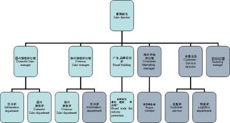 這是我為以前公司設計的組織結構,包括國內和國外,因為是針對大項目圖片