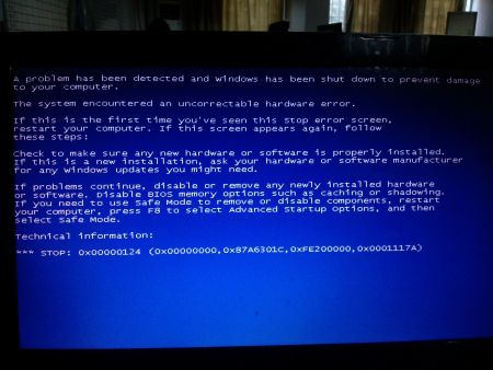 電腦藍屏圖片
