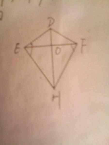��㖶@_如图是小明制作的风筝,他根据de=df,eh=fh,就得知
