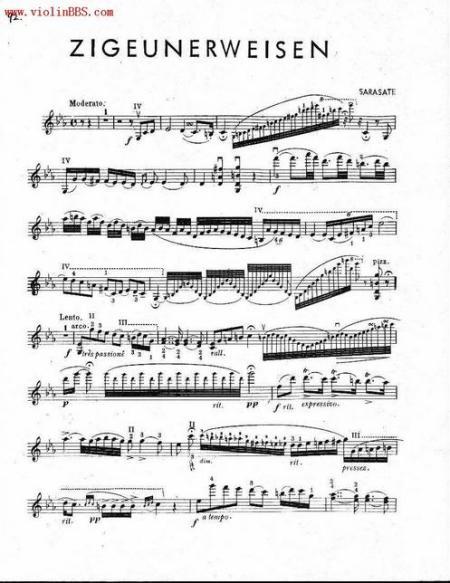 流浪者之歌小�9�-:,,_《流浪者之歌》的五线谱(小提琴)