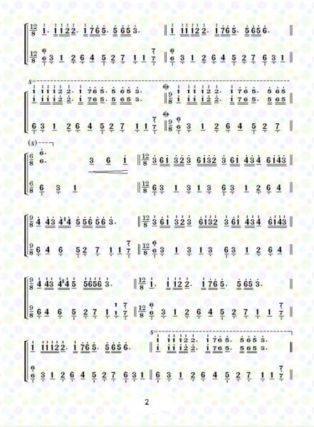 鋼琴曲《夢中的婚禮》簡譜和五線譜圖片