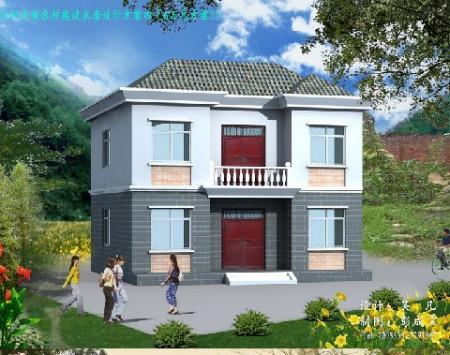 农村二层小楼图纸及效果图,底层建筑面积大约在70平方