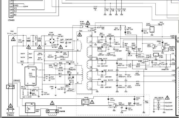 创维电视线路图_创维彩电29ti9000电源5p30机芯