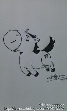 马的卡通画_画的卡通马的图片_百度知道
