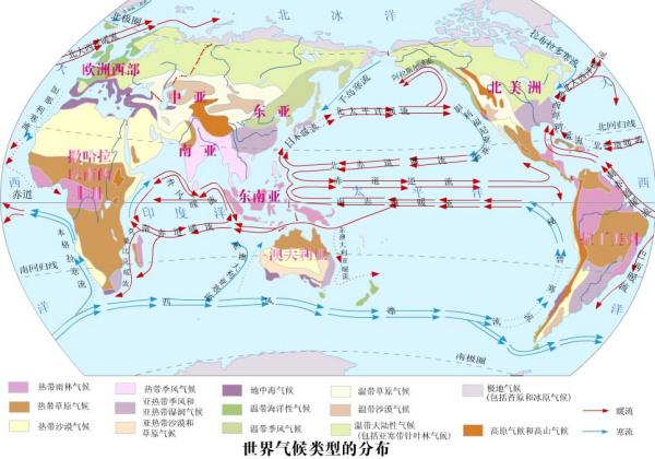 世界洋流分布模式图_全球洋流分布图_百度知道
