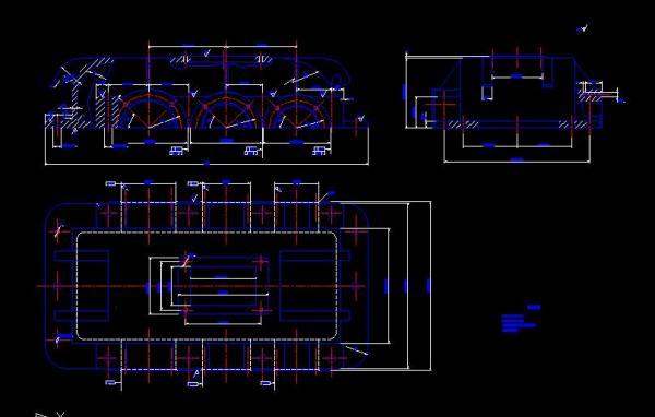 二级减速器箱体cad_二级减速器CAD零件图 可以发一份吗(包括箱盖) 二级的箱盖 ...