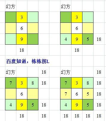九宫格等于4_将0至9这九个数字填入九宫格内,使横竖斜三格中的数字加起来都 ...