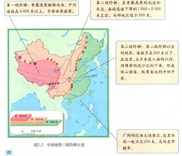 中国地理三大阶梯图_中国三级阶梯分界_百度知道