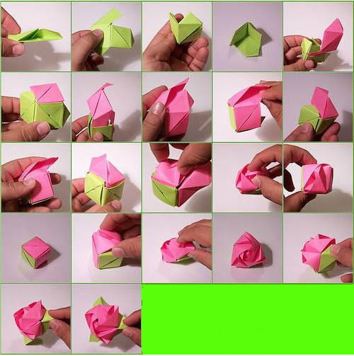 怎样用纸做玫瑰花_玫瑰花用纸怎么折_百度知道