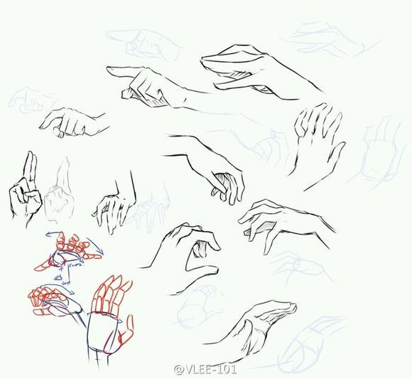如何画漫画人物的手_百度知道