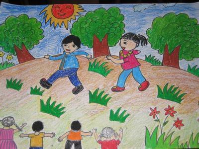 """我健康我快乐儿童画_以""""快乐、阳光、成长""""为主题的绘画作品。我很急呀!!_百度 ..."""