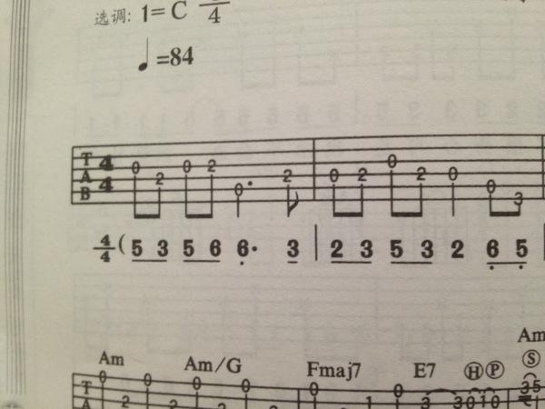 小星星吉他谱怎么看_小星星高音吉他谱分享_小星星高音吉他谱图片下载