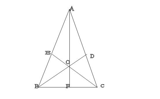 如图abc中ac ab bc_如图, ABC中,AB=AC,BD⊥AC于D,CE⊥AB于E,BD和CE交与点O,AO的延长线∩BC于F ...
