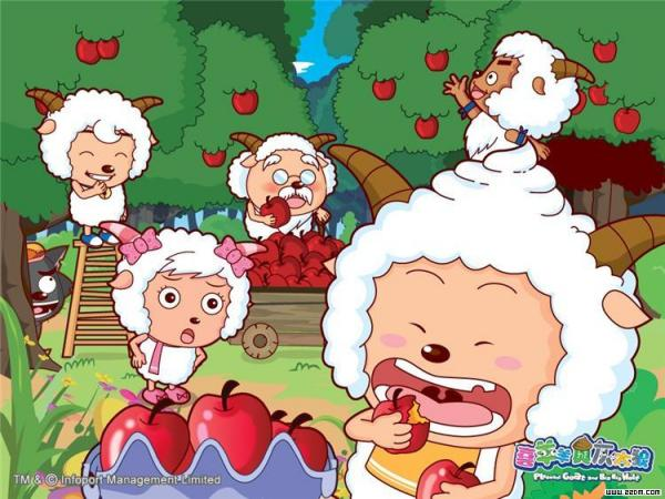 电脑懒羊羊桌面壁纸_跪求一张懒羊羊手机壁纸,就是懒羊羊吃苹果的样子,有点夸张 ...