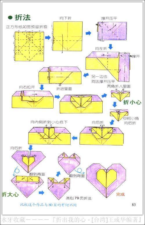 爱心折纸步骤_如何折爱心_百度知道