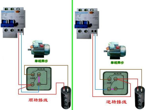 220v交流电机正反转_交流220V电动机正反转线圈怎么接线?_百度作业帮