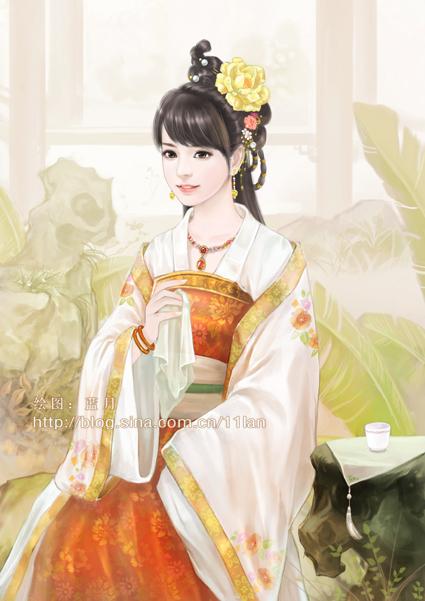 古装美女丹青_古代公主丹青图片展示_古代公主丹青相关图片下载