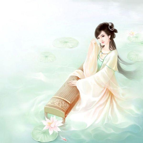 古代美女抚琴图片_求封面女生古代小于15k 120×140_百度知道
