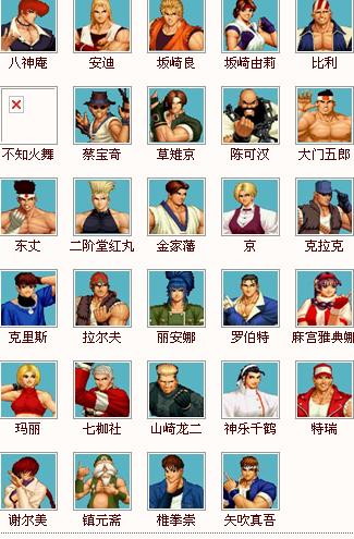 97拳皇出招表及图片_97拳皇人物图解_百度知道