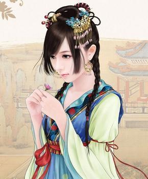求古代动漫美少女图片!要古代人物的图片!! 百度知道