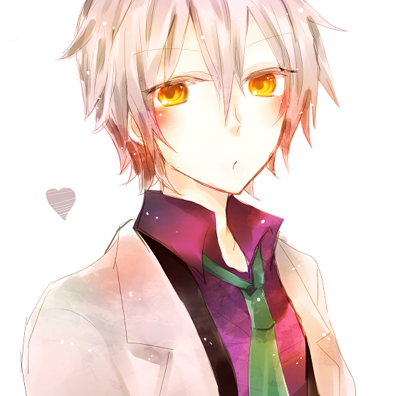 The gallery for --> Anime Boy White Hair Yellow Eyes