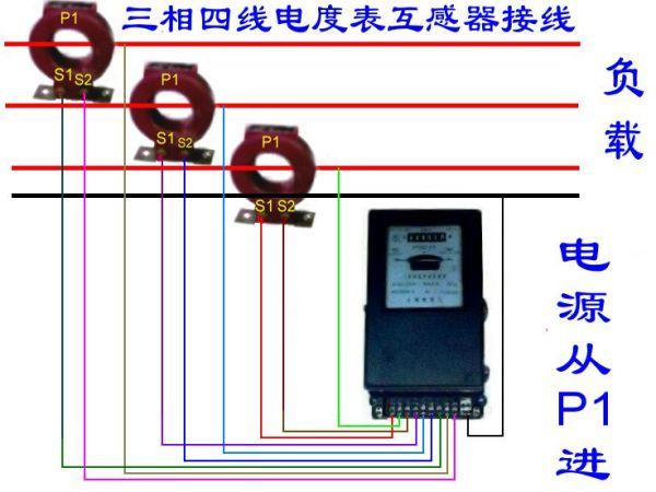 三相四线互感电表_三相四线有功电表配互感器安装了电表怎么反转_百度知道