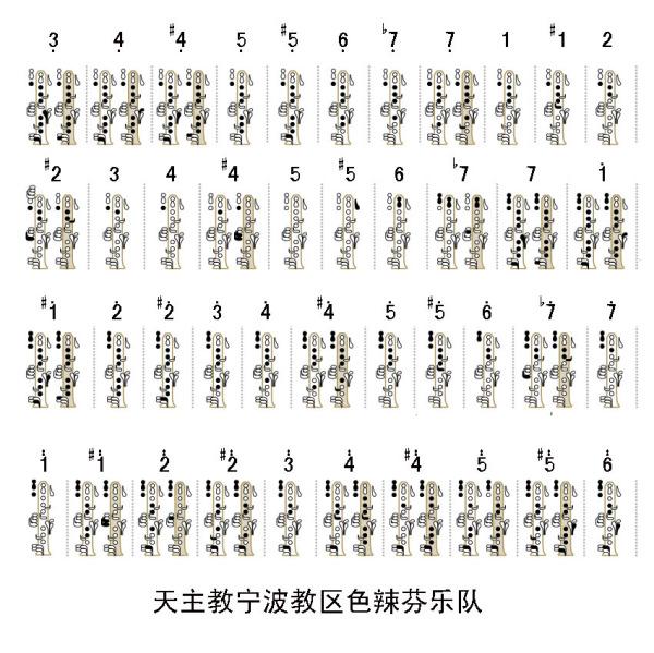 单簧管指法图_求单簧管各个按键图解。_百度知道