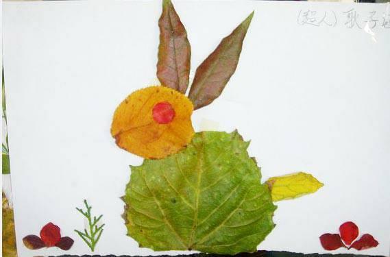 叶子做手工_用树叶做的手工贴画怎么做帮我做几幅图片。_百度知道