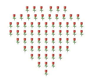 qq表情玫瑰心形_QQ表情玫瑰花围成的爱心怎么做?要发到空间留言的。谁帮我做个 ...