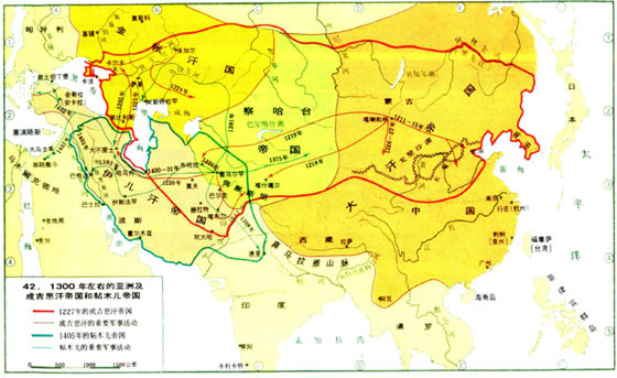 全盛时期元朝地图_求蒙古帝国全盛时期的世界地图_百度知道