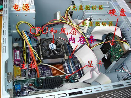 电脑主机箱内部构造_求电脑主机内部结构示意图_百度知道