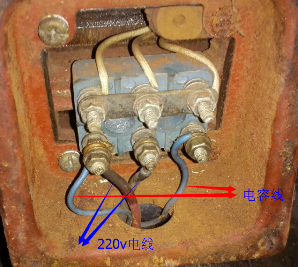 380v转220v怎么接线_三相异步电动机接220v单相电怎么反转电路接口如图,求电工高手 ...