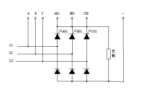 桥式半波整流电路_画出三相半控桥可控整流电路图 谢谢!!!_百度知道