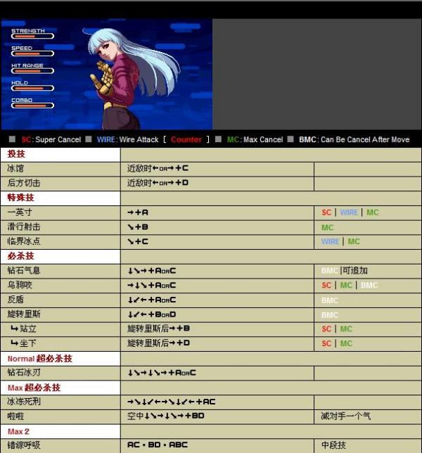 拳皇2002键盘出招表图_拳皇1.7冰女出招表_百度知道