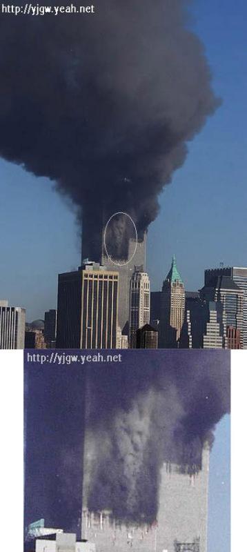 """关于9.11事件的图片""""撒旦的微笑"""""""