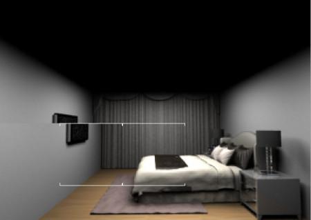 为何室内效果图渲染出来是黑色的?
