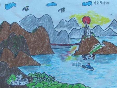 我爱家乡美_小学生爱家乡绘画作品-我爱家乡幼儿绘画作品|家乡美景画小学生 ...