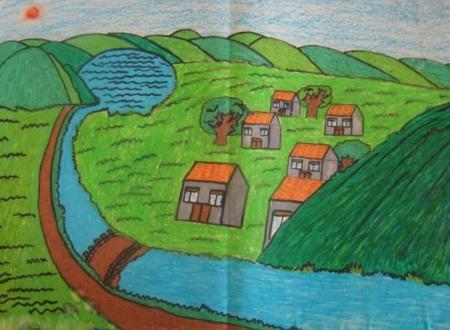 我爱家乡美_我的家乡图画_一年级图画我的家乡_我美丽的家乡图画 - 图片大全 ...