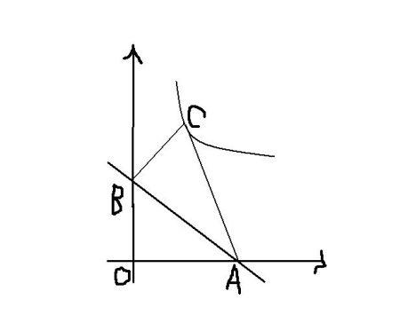 ??#k?acyb-???y??_(2)将△abc绕ac的中心旋转180°得到△pca,请判断点p是否在双曲线y=k