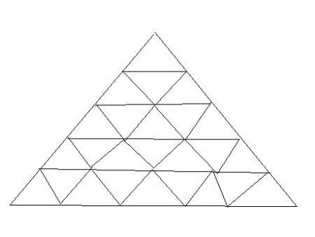 ��D_由25个小三角形组成的大三角形有多少个三角形?