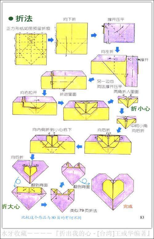长方形折爱心的方法_怎么用正方形的纸折爱心啊?求简单正确的方法_百度知道