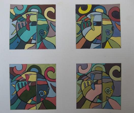 类似调和色彩构成_色彩构成纯度图片_纯度对比色彩构成图_色彩构成图