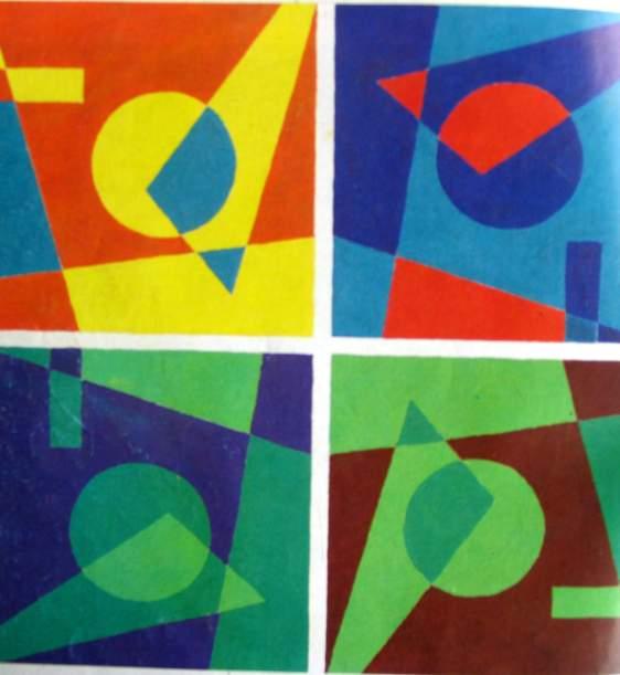 类似色的画_类似色色彩构成图片 互补色色彩构成图片_色彩构成